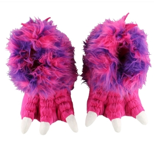 LazyOne bačkory Pink & Purple Monster Paw, XL