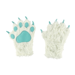 Lazy One zimní rukavice White Yeti Paw Mitts